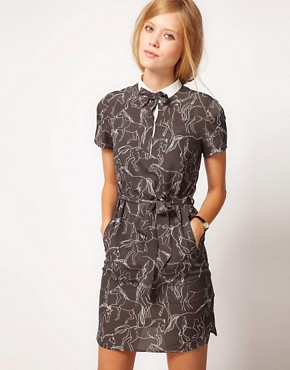 Image 1 ofNW3 Galloping Horse Print Dress