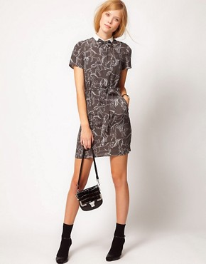 Image 4 ofNW3 Galloping Horse Print Dress