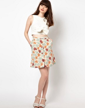 Image 1 ofSessun Palm Print Skirt