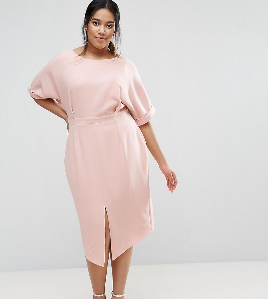 Outfit | ASOS CURVE - Elegantes Midikleid - Rosa