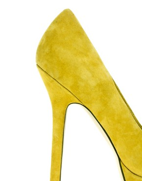 Image 2 ofASOS PUMP IT UP Suede Platform Court Shoe