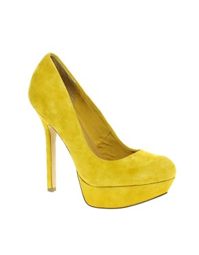 Image 1 ofASOS PUMP IT UP Suede Platform Court Shoe