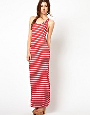 Wal G Striped Maxi Dress