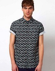 River Island Ikat Print Shirt