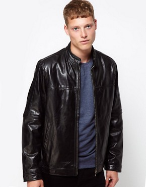 Image 1 ofBarneys Originals Leather Jacket