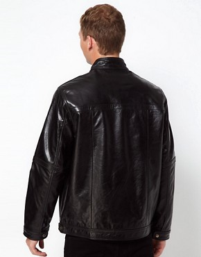 Image 2 ofBarneys Originals Leather Jacket