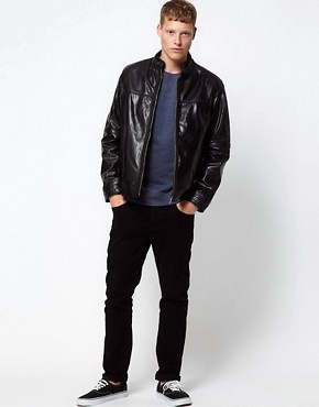 Image 4 ofBarneys Originals Leather Jacket