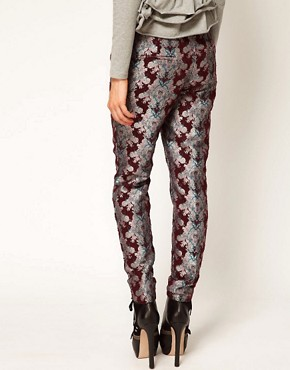 Image 2 ofASOS Africa Floral Jacquard Trousers