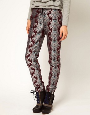 Image 4 ofASOS Africa Floral Jacquard Trousers