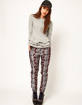 Image 1 ofASOS Africa Floral Jacquard Trousers