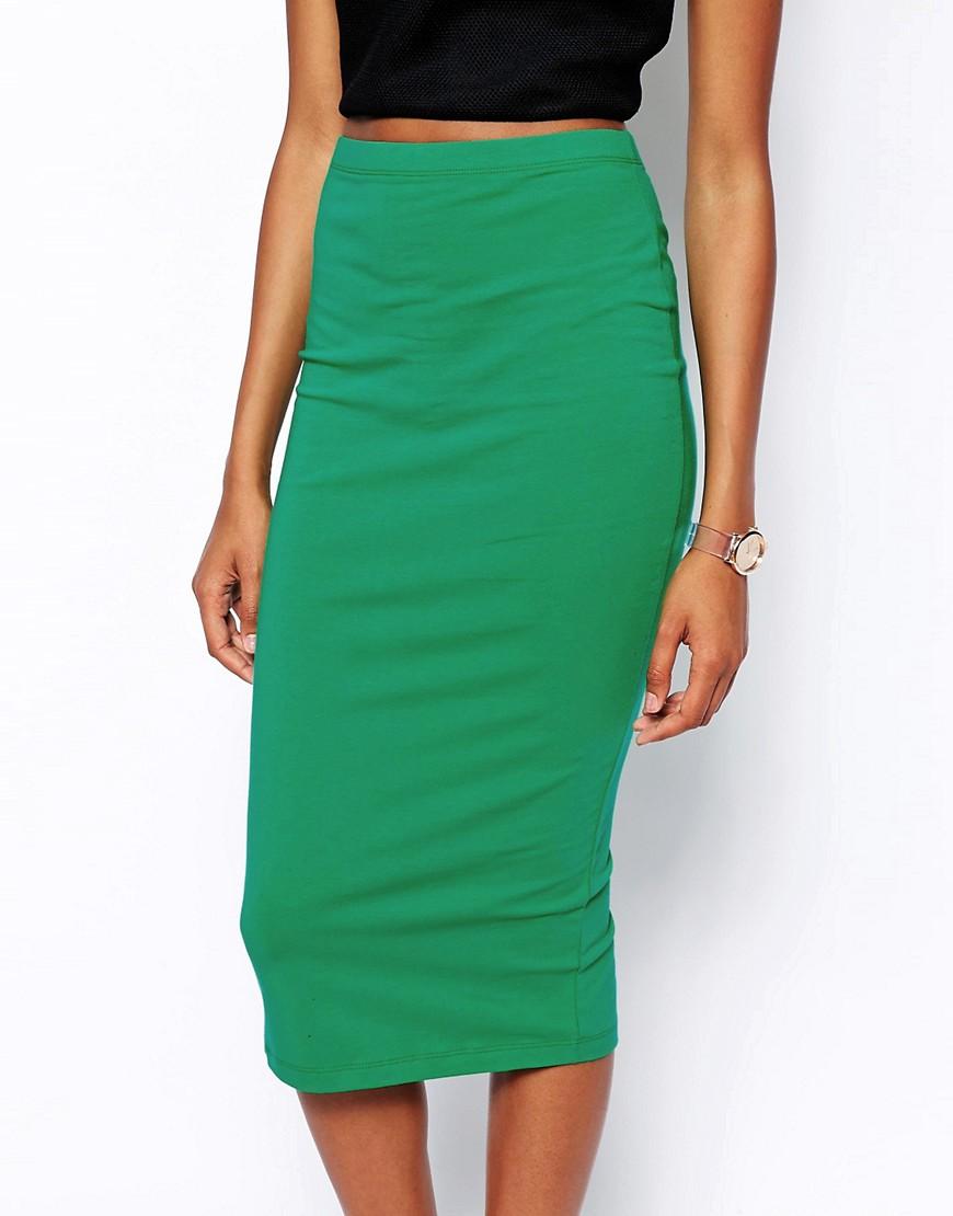 Image 3 ofASOS Midi Pencil Skirt in Jersey