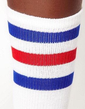 Image 2 ofAmerican Apparel Stripe Knee Socks