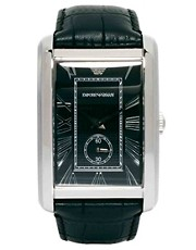 Emporio Armani Classic Marco Leather Strap Watch AR1604