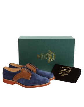 Image 3 ofASOS Made in England Suede And Leather Saddle Shoes
