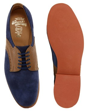 Image 4 ofASOS Made in England Suede And Leather Saddle Shoes