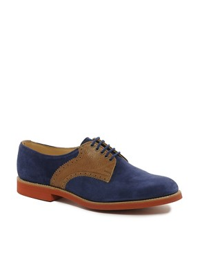 Image 1 ofASOS Made in England Suede And Leather Saddle Shoes