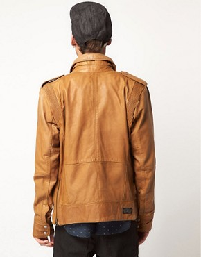 Image 2 ofDiesel Lisardo Leather Jacket