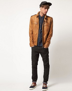 Image 4 ofDiesel Lisardo Leather Jacket
