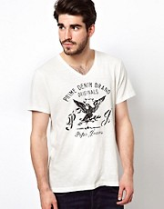 Pepe T-Shirt Karls V-neck Bird Print