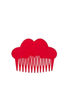 Image 3 ofASOS Red Heart Hair Comb