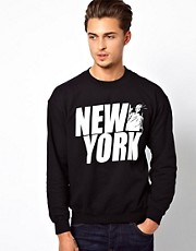 River Island Sweatshirt with New York Print