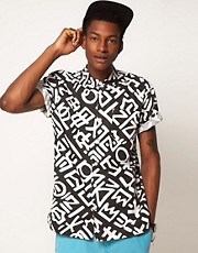 ASOS Shirt With Scrawl Print
