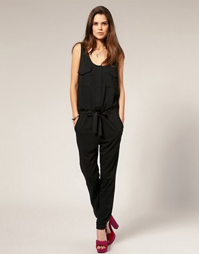 Image 4 ofVero Moda Self Belt Pocket Front Jumpsuit