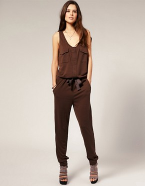 Image 1 ofVero Moda Self Belt Pocket Front Jumpsuit
