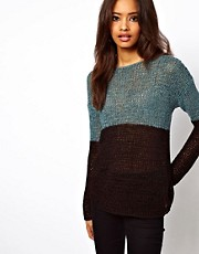 ASOS Jumper In Open Knit Colourblock