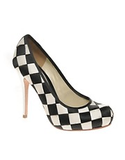 L.A.M.B. Checker Board Woven Court Shoe