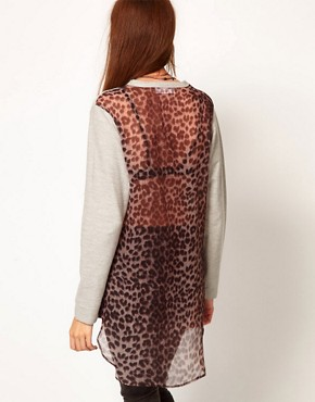Image 2 ofFederation &#39;Spice&#39; Top With Leopard Print Back