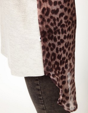 Image 3 ofFederation &#39;Spice&#39; Top With Leopard Print Back