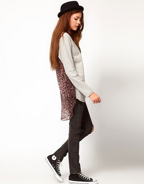 Image 4 ofFederation &#39;Spice&#39; Top With Leopard Print Back