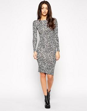 Glamorous Midi Dress in Animal Print