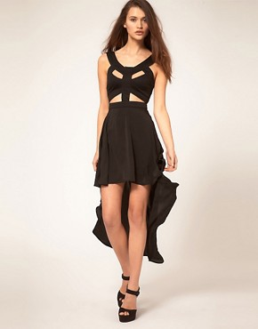 Image 1 ofReverse Dress with Cut Out Harness Top