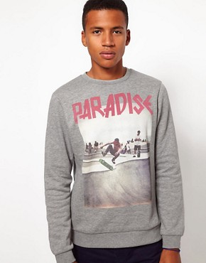 Image 1 ofASOS Sweatshirt With Skater Print