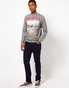 Image 4 ofASOS Sweatshirt With Skater Print