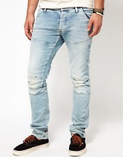 G-Star - Elwood 3D - Jeans super slim leggermente invecchiati