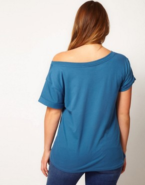 Image 2 of ASOS CURVE Exclusive Off The Shoulder T-Shirt