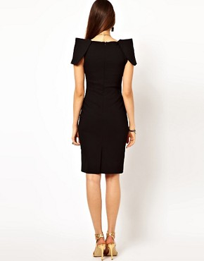 Image 2 ofVesper Pencil Dress with Shoulder Detail