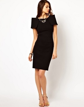 Image 4 ofVesper Pencil Dress with Shoulder Detail