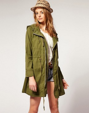 Image 1 ofASOS Double Zip Parka