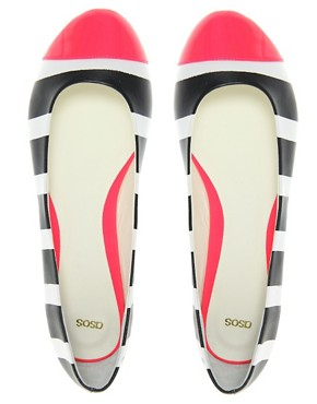 Image 3 ofASOS LADYBUG Toe Cap Neon Ballet Shoes