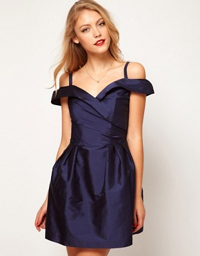 Image 1 ofASOS Dolly Skater Dress With Off Shoulder