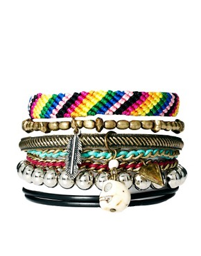 Image 1 ofRiver Island Blogger Friendship Bracelets Pack
