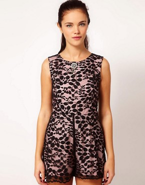 Image 1 ofRiver Island Lace Playsuit