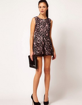 Image 4 ofRiver Island Lace Playsuit