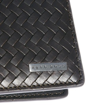 Image 2 ofBoss Black Leather Billfold Wallet