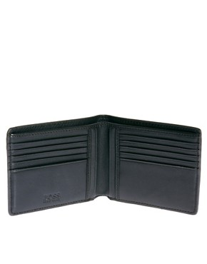 Image 3 ofBoss Black Leather Billfold Wallet