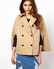 Cooper &amp; Strollbrand Cape Sleeve Coat